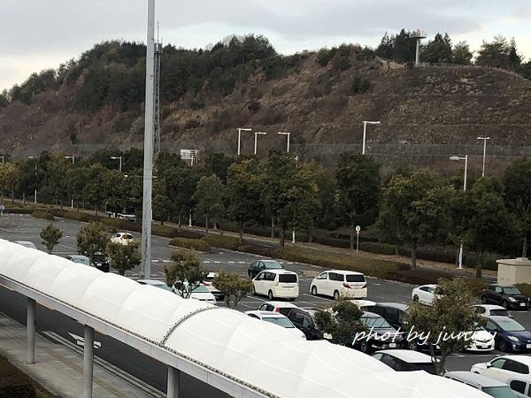 2021年1月上旬の広島空港の駐車場